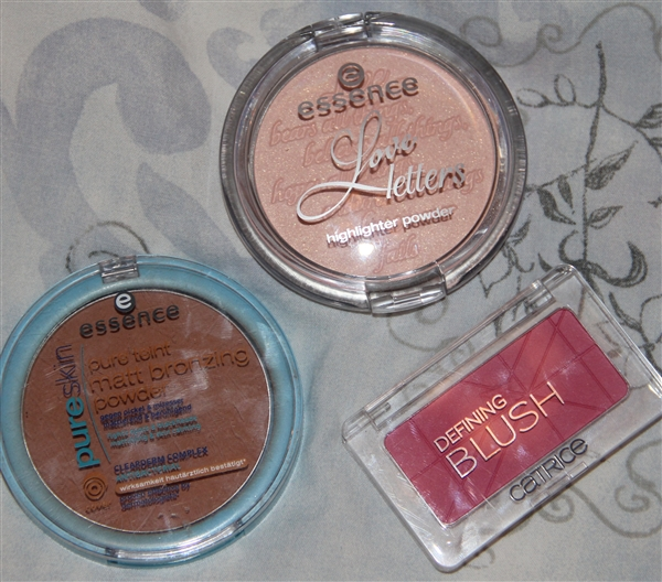 blush highlighter bronzer