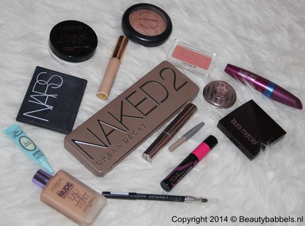 gebruikte make-up